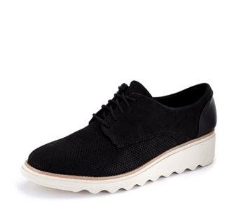 eea192d46b23 Clarks Sharon Crystal Lace Up Flatform Shoe Standard Fit - 176678