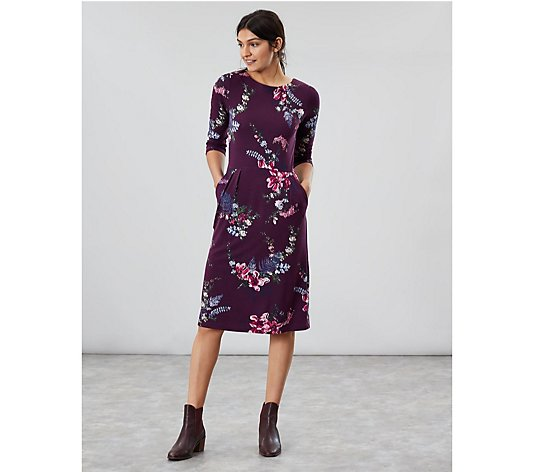 Joules Beth 3/4 Sleeve Jersey Dress