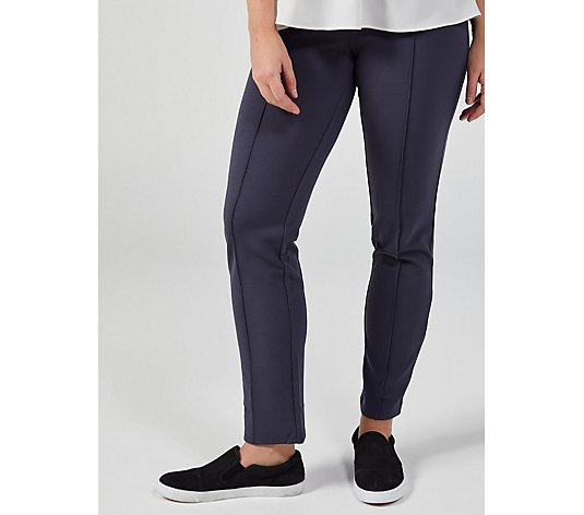 Outlet Slim Fit High Elastic Waist Crepe Trousers by Nina Leonard