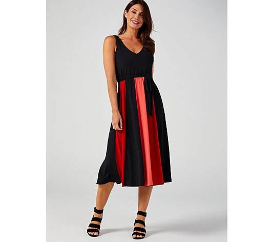 Together Colourblock V Neck Dress
