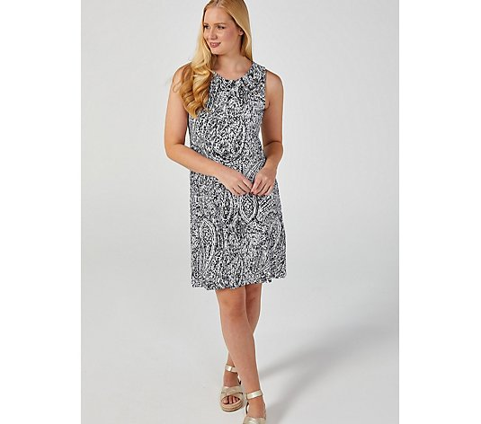 Coco Bianco Printed Grommet Detail Dress