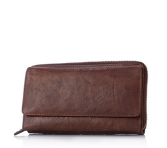 Amanda Lamb Leather Zip Around Large Wallet - 166079