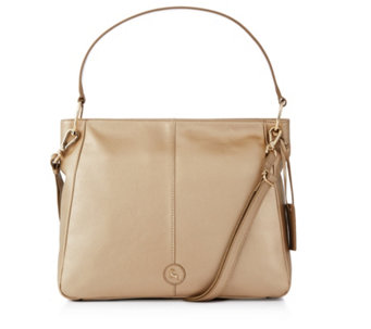 b6f36725d9d98 Ashwood Leather Hobo Bag with Detachable Crossbody Strap - 175979