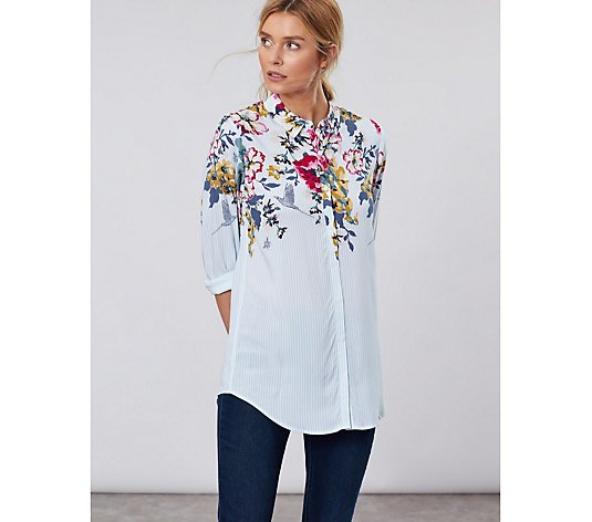 Joules 30th Anniversary Elvina Button Front Woven Top
