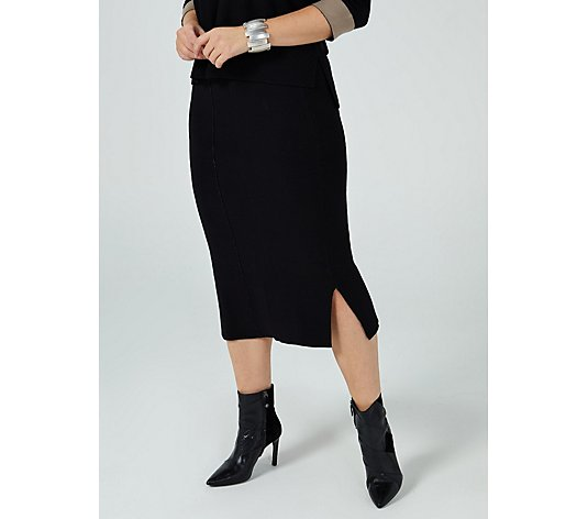 MarlaWynne Double Faced Skirt with Side Slits