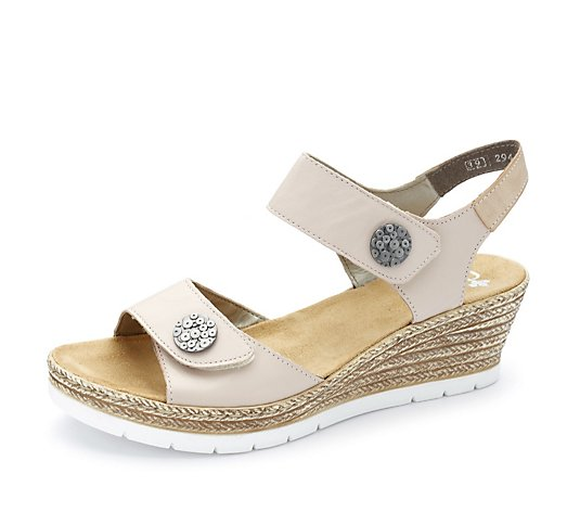 Rieker Wedge Sandal with Button Detail