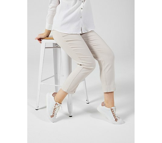 MarlaWynne Flatter Fit Trousers with Side Slit