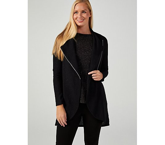 Mr Max Shimmer Ottoman Cardigan with Zip