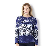 Artscapes Christmas Village Long Sleeve Round Neck Top - 127180