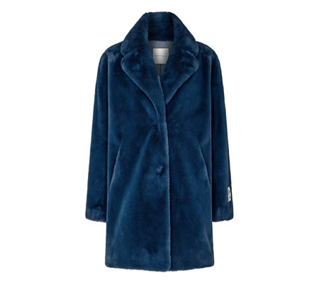 20273f382 Rino & Pelle Longline Faux Fur Coat - QVC UK