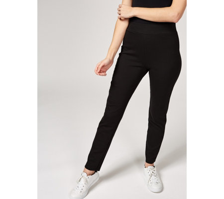 Isaac Mizrahi Live Essentials Slim Leg Pull On Regular Trousers