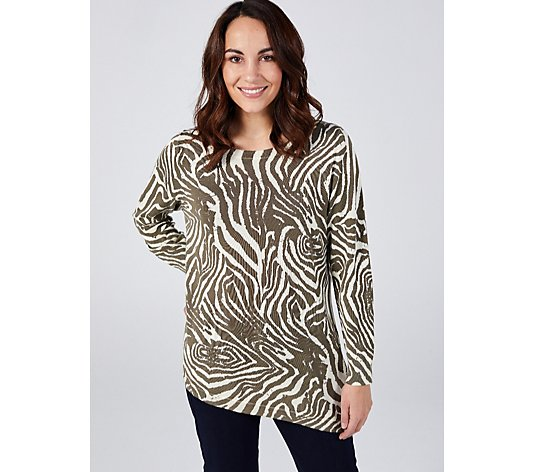 Together Zebra Print Sweater