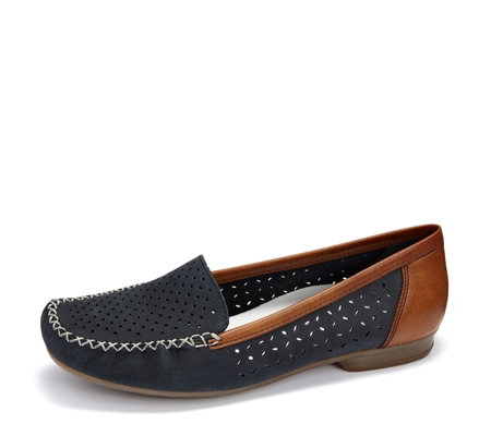 Rieker Slip On Perforated Loafer