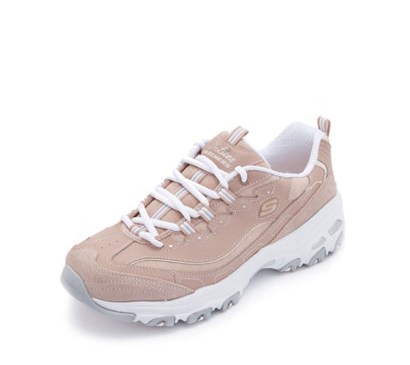 Skechers D Lites Me Time Jersey Lace Trainer