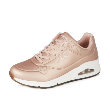 Skechers Street Uno Rose Bold Metallic Lace Up Trainer