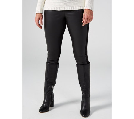 Women With Control Royale Leggings With Faux Leather Front Panel