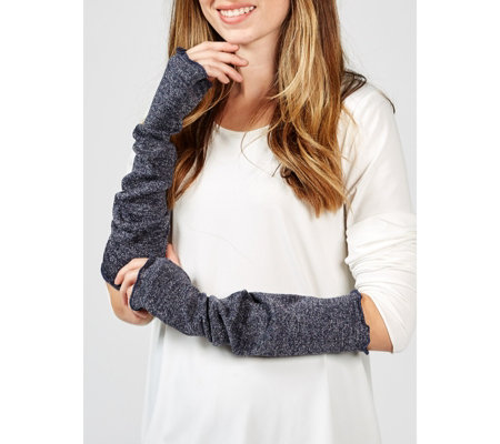 Kim & Co Shimmer Sweater Jersey Arm Warmers