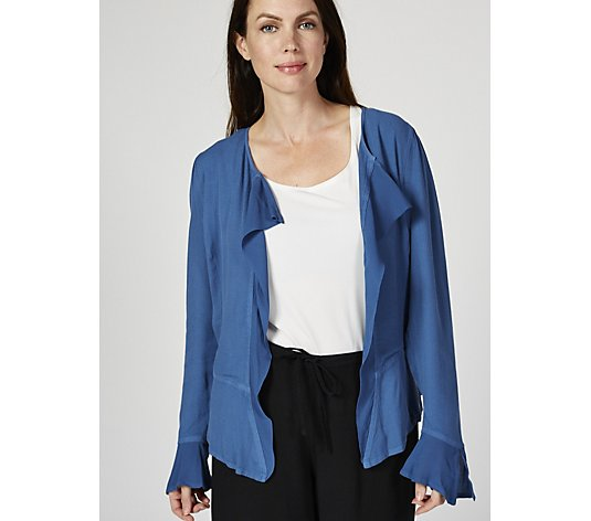 Ghost London Crepe Waterfall Front Marcie Jacket