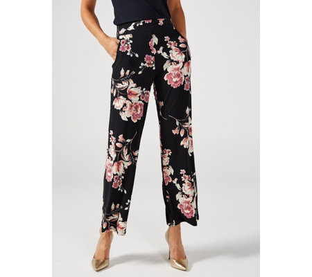Mr Max Printed Wide Leg Trousers
