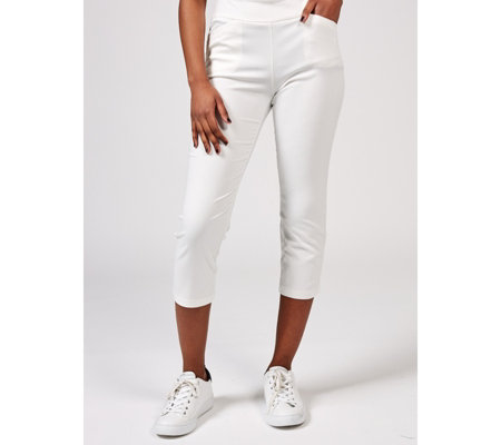 Straight Leg Pull On Crop Trousers Regular by Nina Leonard