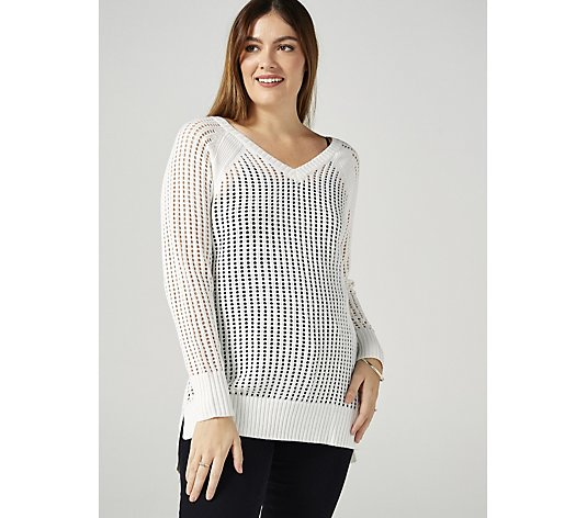 Ruth Langsford Open Weave Summer Jumper Tunic