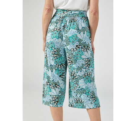 Kim & Co Printed Brazil Jersey Wellness Gaucho Trousers