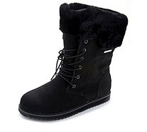 Emu All Weather Shoreline Waterproof Suede Lace Front Boot - 165883