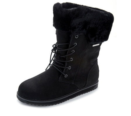 Emu All Weather Shoreline Waterproof Suede Lace Front Boot