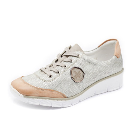 Rieker Lace Up Wedge Trainer
