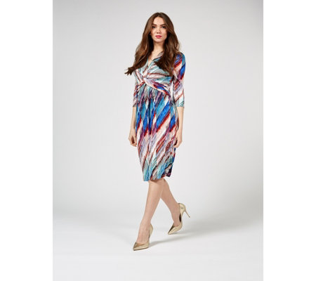 Jolie Moi Grace Twist Front Dress
