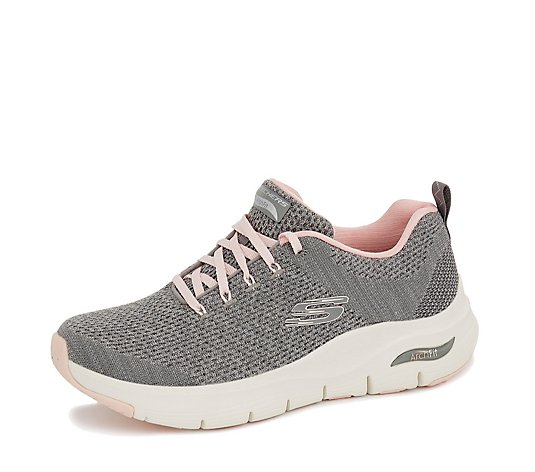 Skechers Arch Fit Engineered Mesh Lace Up Trainer