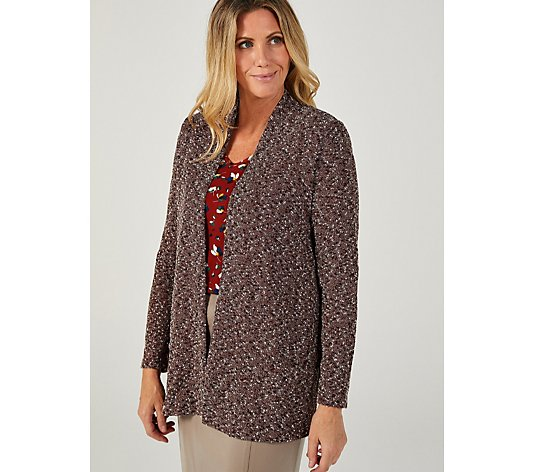 Kim & Co Boucle Long Sleeve Cardigan with Pockets