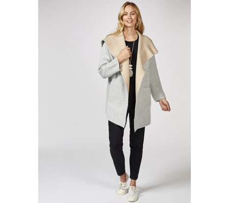 MarlaWynne Boucle Cardigan with Pocket Detail