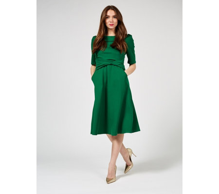 Jolie Moi Bonnie Fold Collar Dress