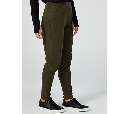 Cuddl Duds Relaxed Fit Teddy Plush Slim Trousers