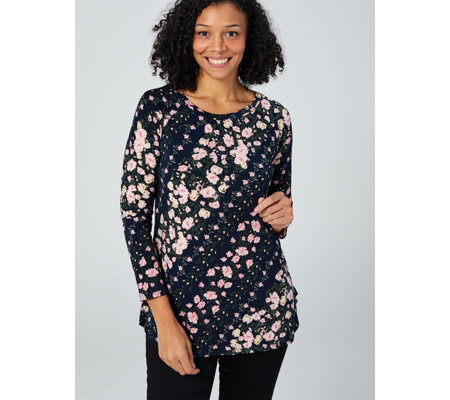 Printed Long Sleeve Tunic by Nina Leonard
