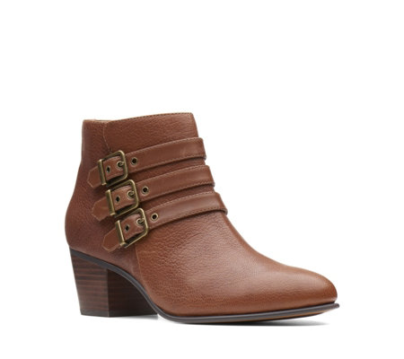 Clarks Maypearl Rayna Buckle Ankle Boot Standard Fit