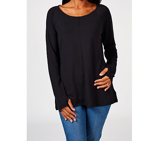 Attitudes By Renee Round Neck French Terry Tunic