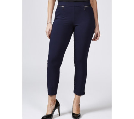 Outlet Millenium Ankle Length Petite Trousers by Nina Leonard