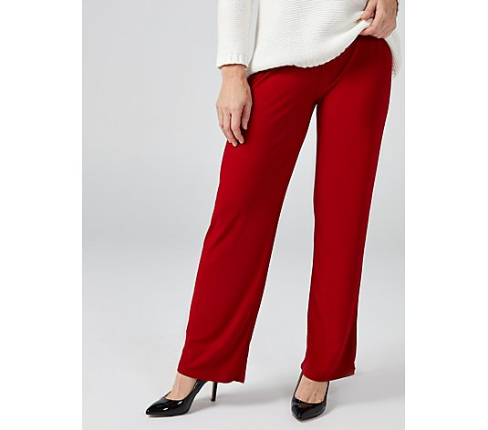 Antthony Designs Crepe Straight Leg Elasticated Waist Trousers