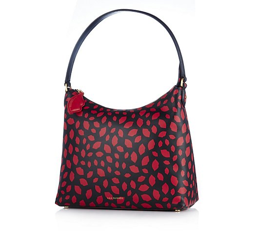 Lulu Guinness Lucilla Grainy Leather Hobo Bag