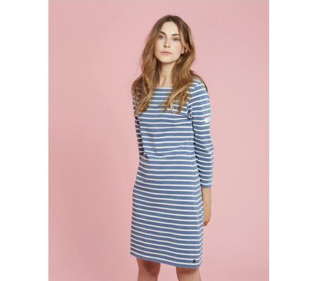 5b51b729f34 Joules Riviera Saltwash 3/4 Sleeve Jersey Dress - QVC UK
