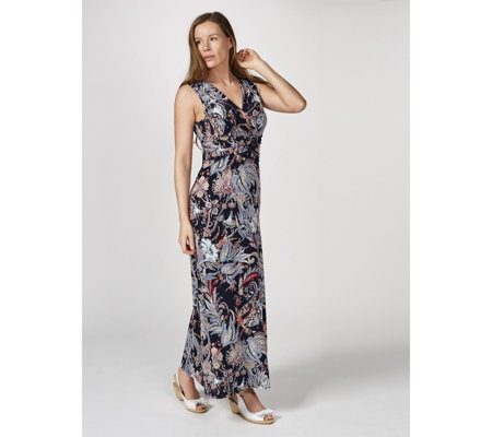 Kim & Co Joyful Paisley Brazil Knit Sleeveless Maxi Dress