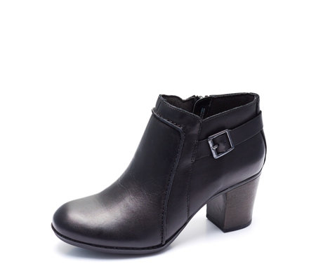 Clarks Enfield Kayla Buckle Ankle Boot Wide Fit