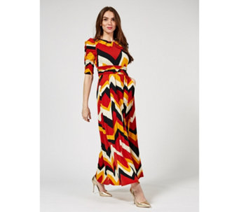 2adfe300645 Jolie Moi Leah Printed Maxi Dress - 178186