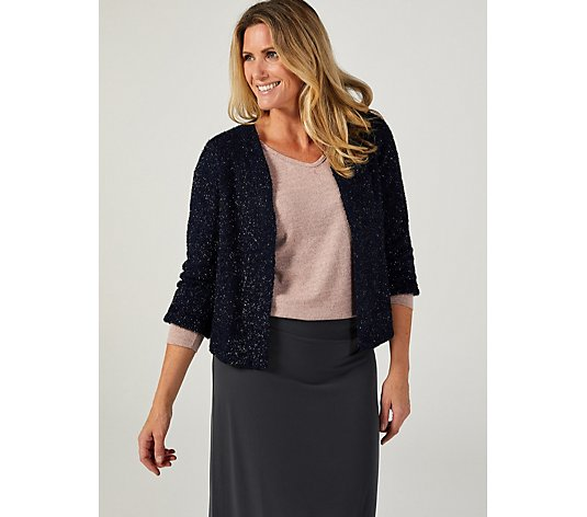 Kim & Co Shimmer Cozy Knit Bolero