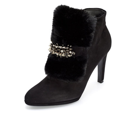 Peter Kaiser Piya Faux Fur Trim Ankle Boot