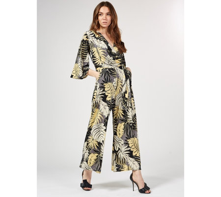 Laurie 3/4 Sleeve Printed Jumpsuit by Onjenu London