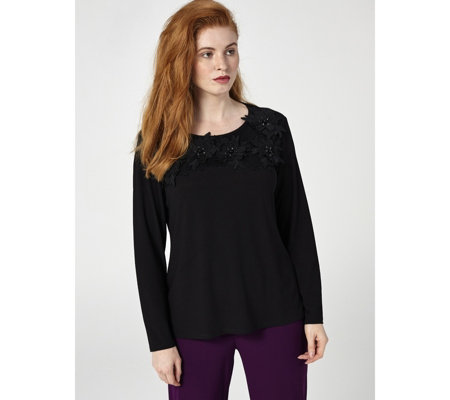 Antthony Designs Long Sleeve Embellished Top