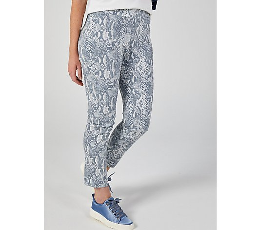 Mr Max Floral Printed Modern Stretch Trousers